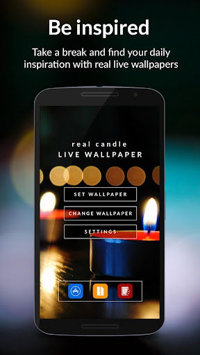 Real Candle HD Live Wallpaper