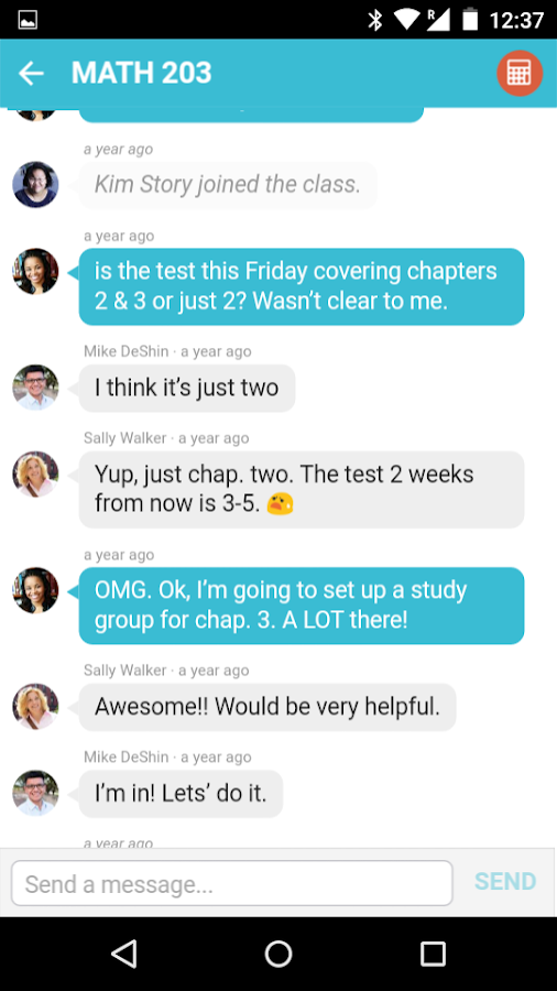 BuddyUp - College Messenger- screenshot