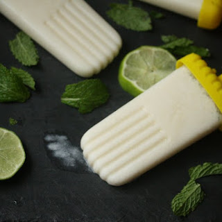 Healthy Coconut Mojito Popsicles.