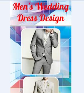 Design svatební šaty muž - náhled