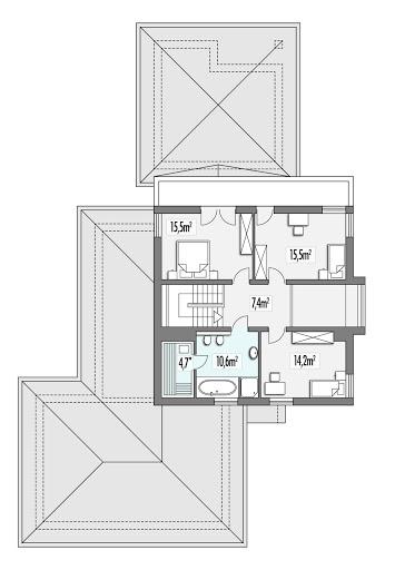 Sewilla Maxi E z wykuszem - Rzut piętra