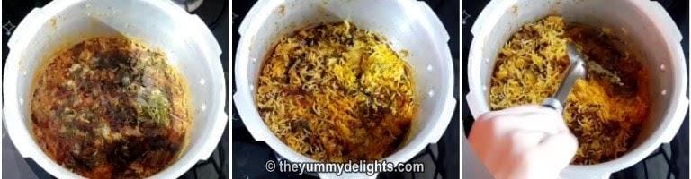 Egg biryani in pressure cooker is ready