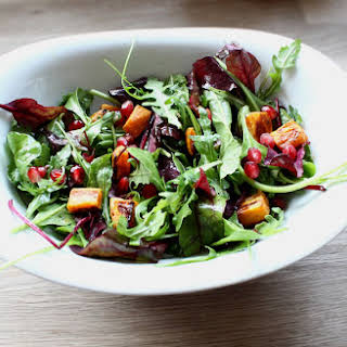 Sweet Potato And Pomegranate Salad.