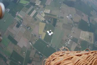 Photo: Départ en wing suit