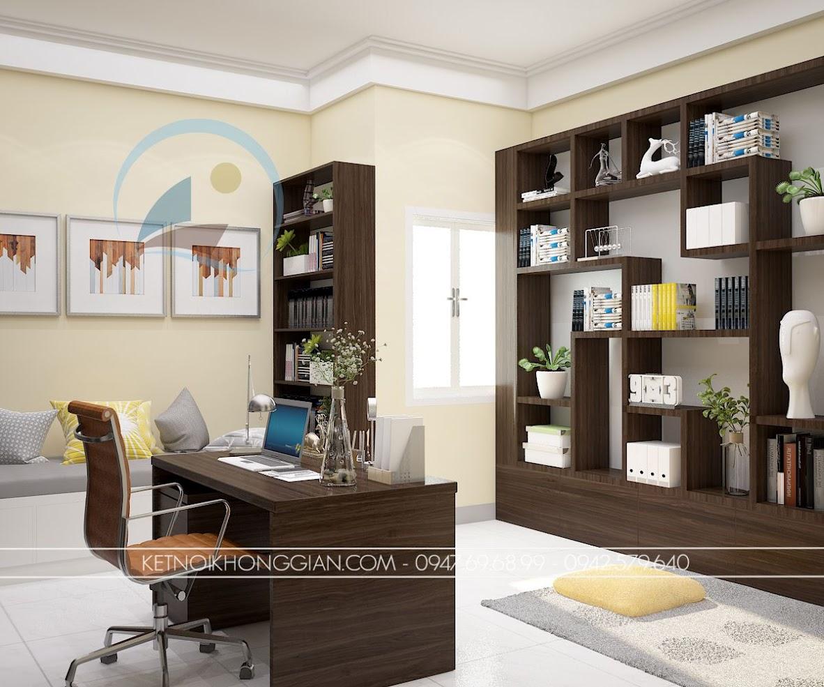 thiết kế phòng làm việc kết hợp phòng đọc sách và thiền 6