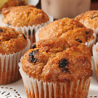 Healthy, Egg-free Banana Muffins.