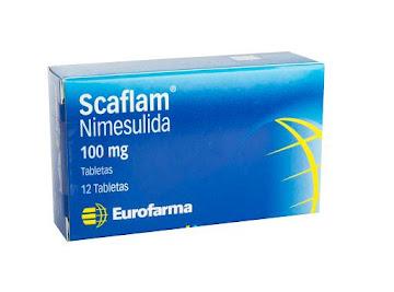 **Scaflam 100Mg Tabletas   Caja X12Tab. Eurofarma Nimesulida
