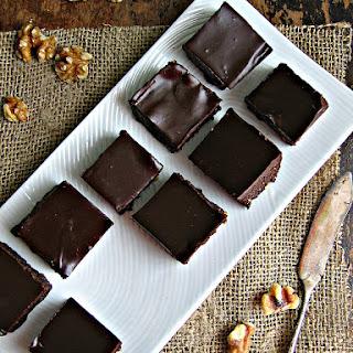 Walnut & Date Brownies with Chiptole Ganache