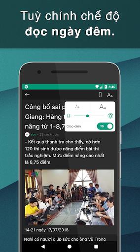 Doc bao 24h - Bao moi, tin tuc cap nhat tung giay 1.2.5 screenshots 14