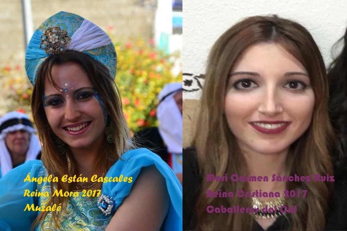 Reinas mora y cristiana 2017: Ángela Están Cascales y Mari Carmen Sánchez Ruiz