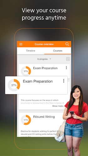 Moodle Android App Screenshot