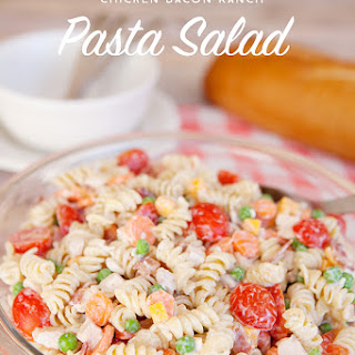 Chicken Bacon Ranch Pasta Salad with Creamy Greek Yogurt Dressing