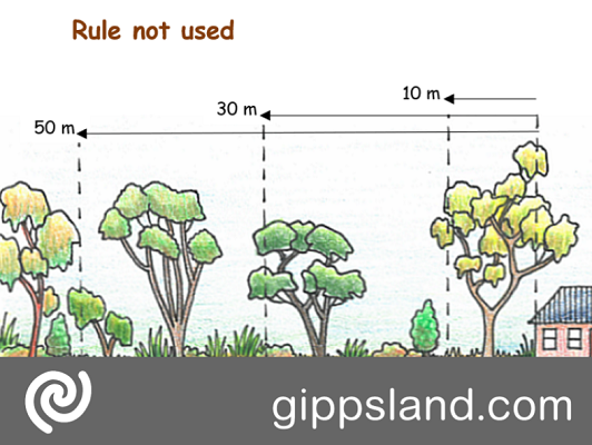 Before you clear vegetation you should check if the rules apply to your property