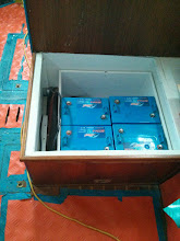 Photo: Pilgrim Battery Box with four of six batteries installed.