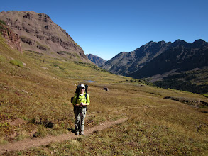 Photo: Nearing the 1st of 4 12K ft passes, West Maroon Pass.