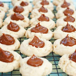 Salted Caramel Thumbprint Cookies.