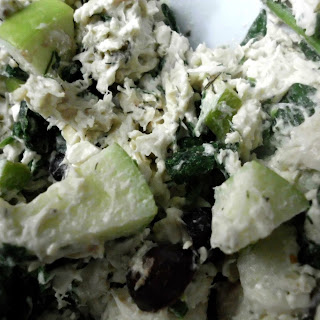 Chicken Salad With Spinach, Apple, + Dill