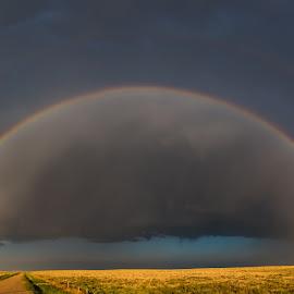 Colorado countryside by Matt Hollamon - Landscapes Weather ( rainbow, storm, panorama, weather, colorado )