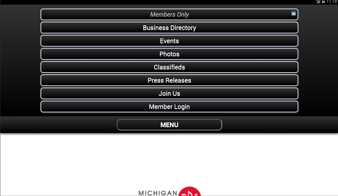Michigan Downtown Association- screenshot