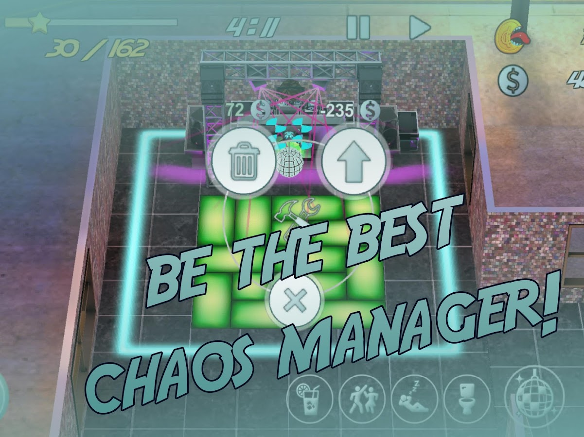 Chaos Manager Disco Game- screenshot
