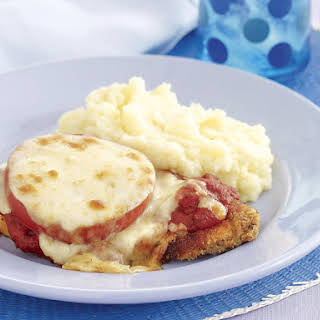 Chicken Parmigiana with Mashed Potatoes.