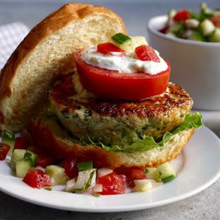 Chicken Spinach Feta Burger Recipe
