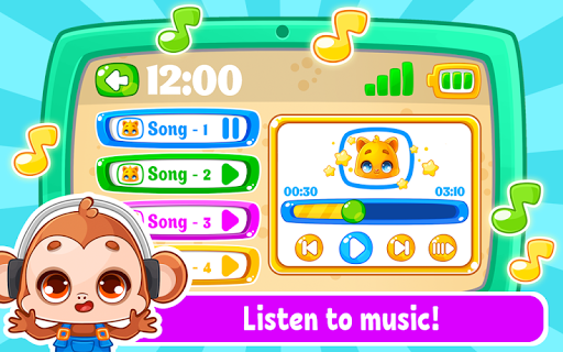 Babyphone & tablet - baby learning games, drawing screenshots 9