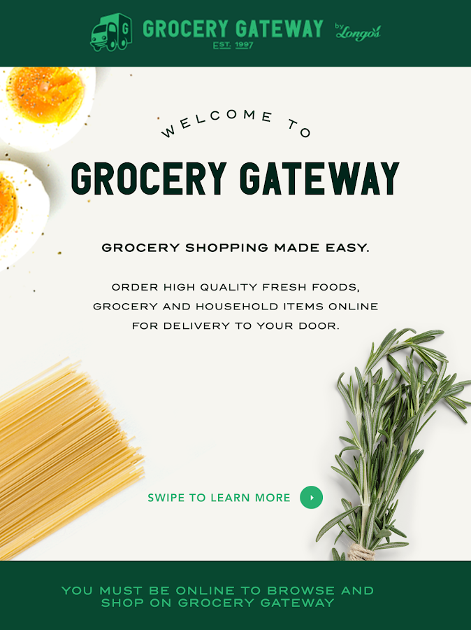Grocery Gateway- screenshot