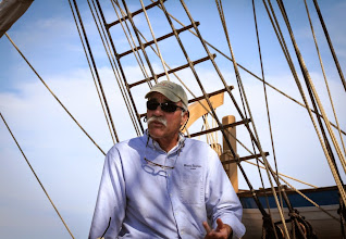 Photo: Captain Kip Files reflects on life at the helm of a historic whaling ship (Photo credit: Ivar Babb, NURTEC-UCONN).