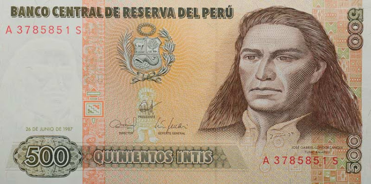 Peruvian currency.