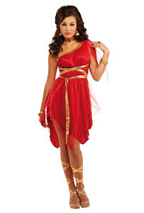 Dräkt, röd gudinna