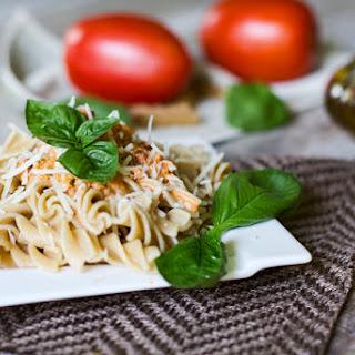 Creamy Pesto & Tomato Pasta.
