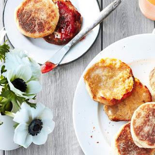 Honey Whole-Wheat English Muffins Recipe