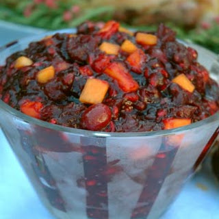 Organic Cranberry, Pomegranate, Persimmon Relish.