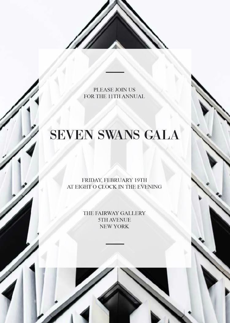 Seven Swans Gala - Photo Card Template