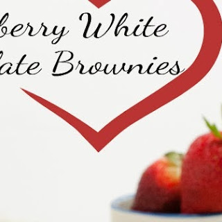 Strawberry White Chocolate Brownies {gluten free}