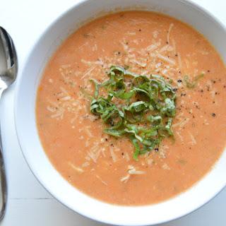 Roasted Tomato Basil Chicken Soup.
