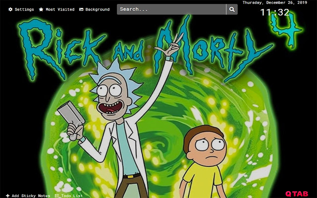 Rick and Morty Wallpapers HD New Tab Theme