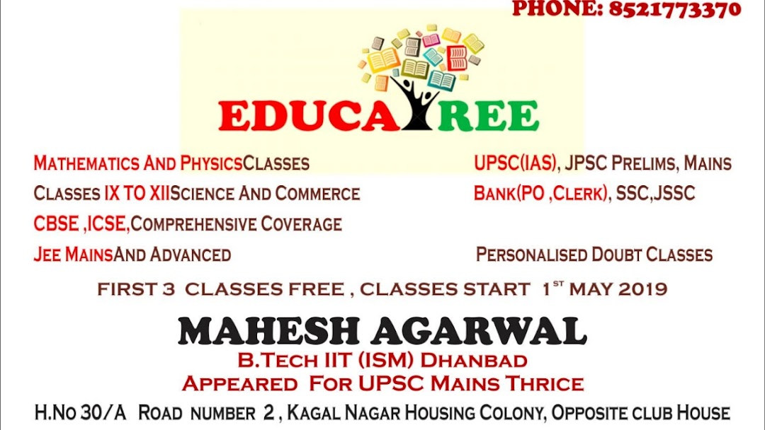 EDUCATREE: By IITians,MATHS PHYSICS Tuitions and Classes