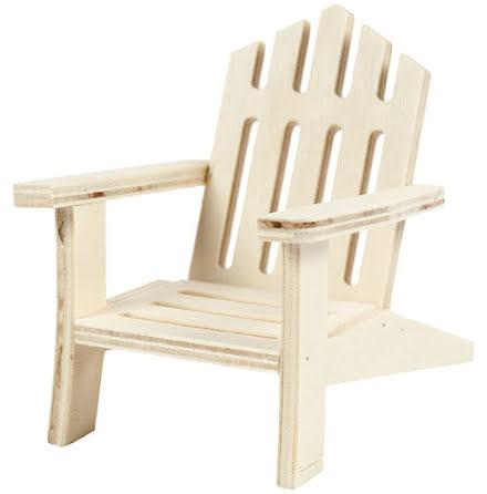 Trädgårdsstol i trä - 7,5 cm x 9 cm