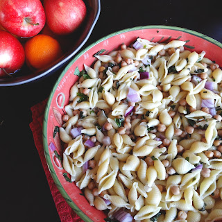 Warm Lemon Basil Pasta Salad