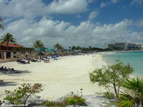 Photo: #008-La plage du Club Med Cancún Yucatán.