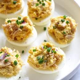 Tuna Salad Deviled Eggs