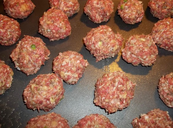 Form into 2 inch balls..brown in skillet with small amount of oil, on med...