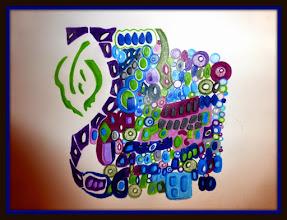 Photo: 009 YOUNG PEGASUS ~ ЮНИЙ ПЕГАС Luba Bilash original ~ mixed media matted & framed $200 *Available @ ACUA Gallery & Artisan Bouique, Edmonton, AB