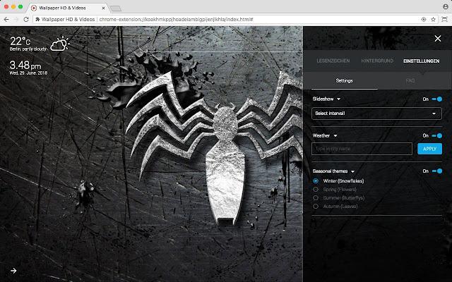 Venom Marvel Hd Wallpaper New Tab Theme