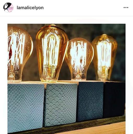jeux concours instagram avec la malice lyon pour gagner une lampe en béton croco de junny