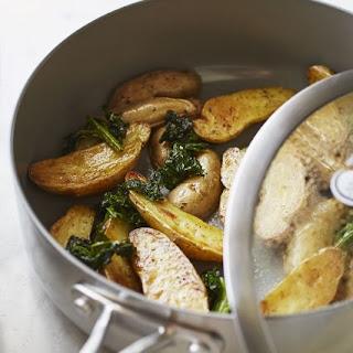 Crispy Kale and Potatoes.