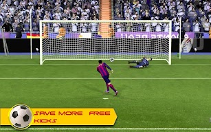 Soccer Goalkeeper Football Game 2018 screenshot for Android