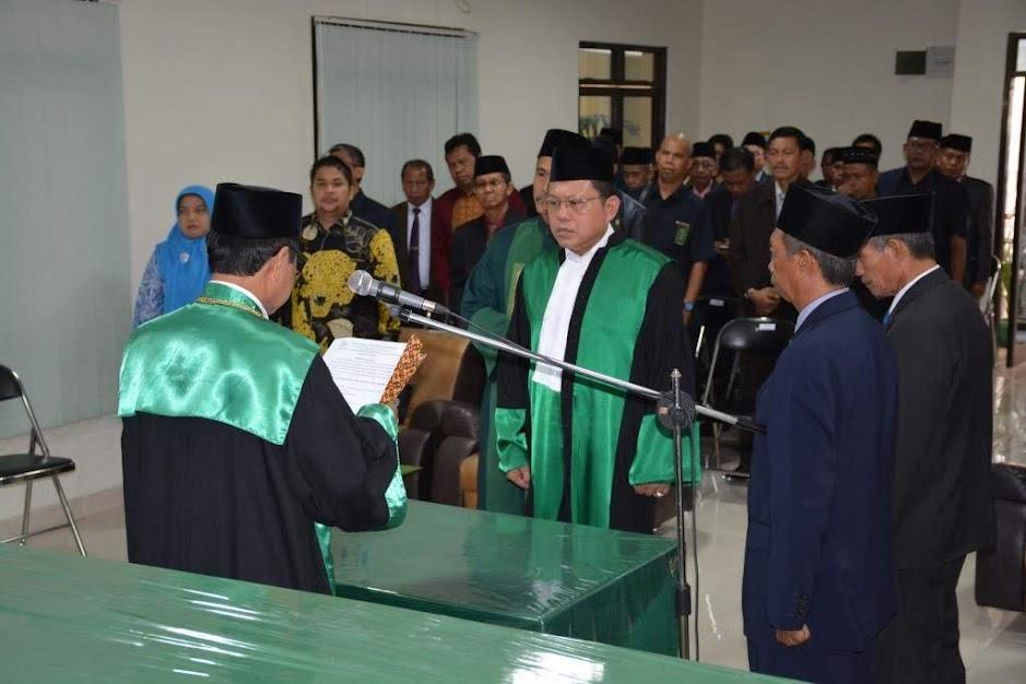 Dr. H. Hasbi Hasan Resmi Dilantik Sebagai Hakim Tinggi PTA Palu